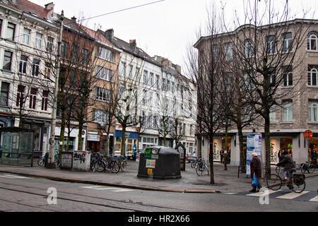 Old Town of  Antwerpen, Belgium - Stock Photo