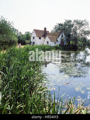 Willy Lott's Cottage, Flatford, East Bergholt, Suffolk, England, United Kingdom - Stock Photo