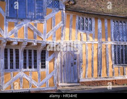 15th century Little Hall, Market Square, Lavenham, Suffolk, England, United Kingdom - Stock Photo