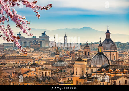 Aerial view on Rome, Italy - Stock Photo