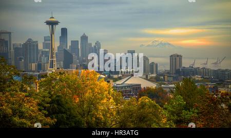 Seattle Skyline from Kerry Park Seattle - Stock Photo