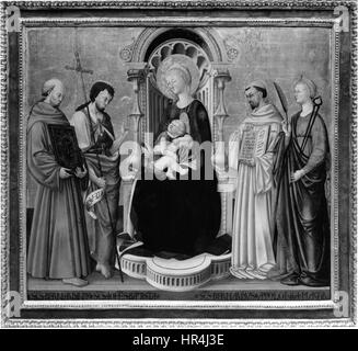 Neri di Bicci - Virgin and Child Enthroned with Four Saints - Walters 37700 - Stock Photo