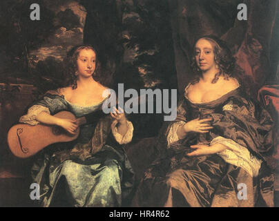 Peter Lely - Two Ladies of the Lake Family - WGA12644 - Stock Photo