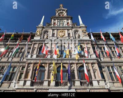 City Hall of Antwerp, Belgium. - Stock Photo