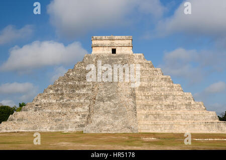 Mexico, Chichen Itza ruins is the most famous and best restored of the Yucatan Maya sites. The picture presents - Stock Photo