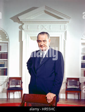 LYNDON B. JOHNSON (1908-1973) as 36th President of the United States in 1963 - Stock Photo
