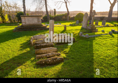 St James' Church, Cooling with the childrens graves - Stock Photo