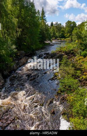 The river Lyon In Glen Lyon, perth and Kinross, scotland - Stock Photo