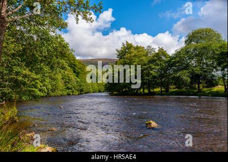 River Lyon at Bridge of Balgie - Stock Photo