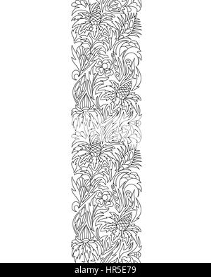 Seamless Borders Vector Set In Doodle Style