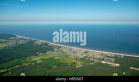 Seebad Ahlbeck, Strand von Heringsdorf, Insel Usedom,  Korswandt, Ostsee, Mecklenburg-Vorpommern, Deutschland