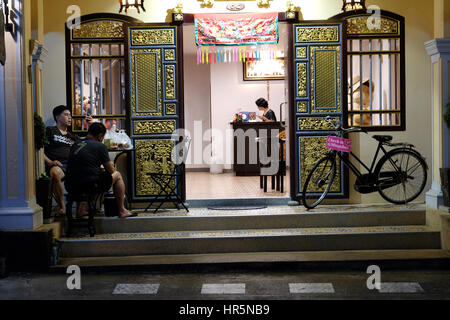 Hotel in Sino-Portuguese Architectural Style, Old Town, Phuket Town, Phuket, Thailand - Stock Photo