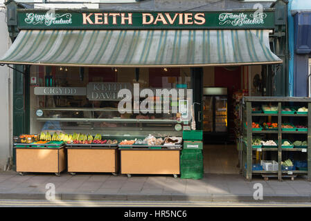 Family Butcher West Wales - Stock Photo