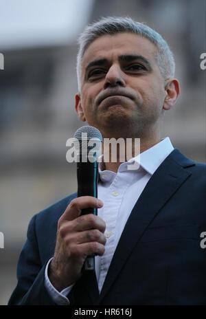 London, UK, 26, 02, 2017: The Mayor of London Sadiq Khan attends a free screening of Oscar- nominated Iranian film - Stock Photo