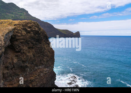 Coastline near Ponta Delgada, Madeira, Portugal, Europe - Stock Photo