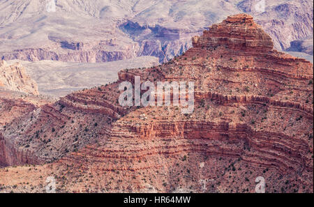 A view from the Grand Canyon's south rim, Grand Canyon National Park, Arizona, USA. - Stock Photo