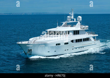 Luxury Yacht in Mediterranean - Stock Photo