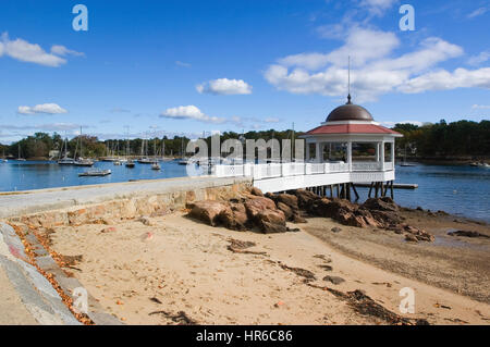 Tuck's Point beach and pavilion in the seaside  town of Manchester by the Sea, Massachusetts - Setting for the movie - Stock Photo