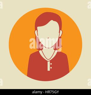 businesswoman avatar character icon - Stock Photo
