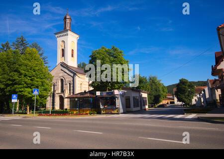 Church of St. George the Great Martyr (Crkva sv. Velikomučenika Georgija) - Orthodox church in Otočac, Croatia - Stock Photo