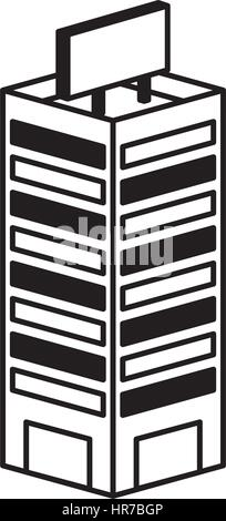 building isometric isolated icon - Stock Photo