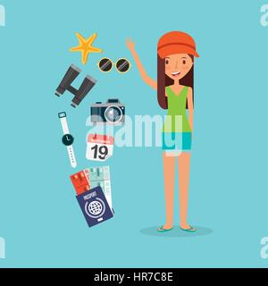 person on vacations holidays - Stock Photo