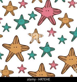 color starfish background icon - Stock Photo