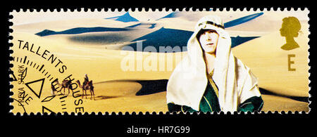UNITED KINGDOM - CIRCA 2003: A used postage stamp printed in Britain celebrating British Explorers showing Freya - Stock Photo