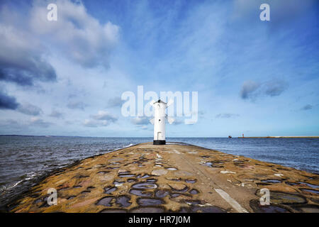 An old lighthouse in Swinoujscie, Poland. - Stock Photo