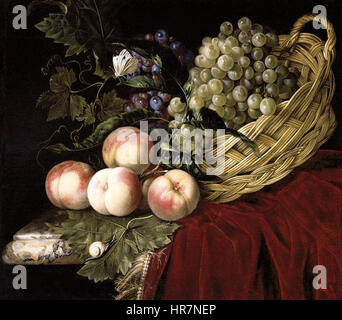 Willem van Aelst - Still-Life of Fruit - WGA0039 - Stock Photo