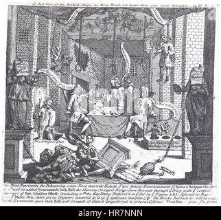 William Hogarth - A Just View of the British Stage - Stock Photo