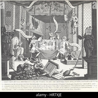William Hogarth - A Just View of the British Stage (Alt) - Stock Photo
