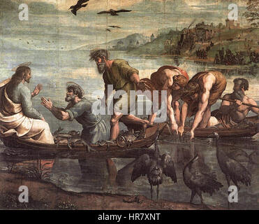 V&A - Raphael, The Miraculous Draught of Fishes (1515) - Stock Photo