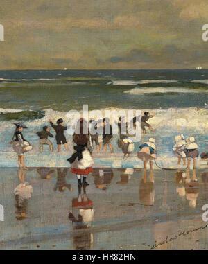 Winslow Homer - Beach scene - Stock Photo