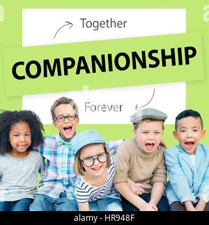 Best Friends Love Partnership Concept - Stock Photo