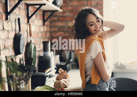 Woman at home - Stock Photo