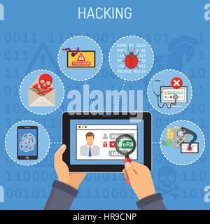 Internet Security and Hacking concept - Stock Photo