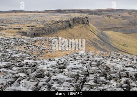 The view from Moughton Scars - Stock Photo
