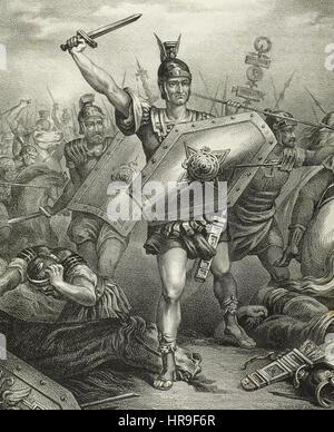 Caesar's Civil War. Gaius Julius Caesar (100-44 B.C), known as Julius Caesar, Roman politician, general, and author - Stock Photo
