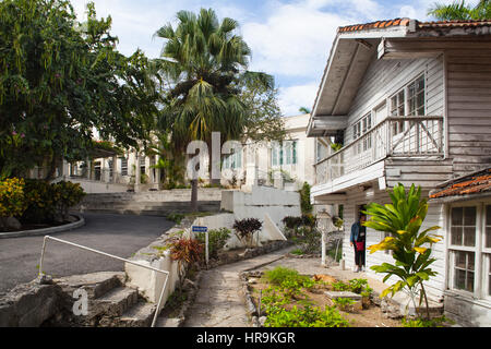 Havana, Cuba - February 2,2017: House Finca Vigia where Ernest Hemingway lived from 1939 to 1960.From the back veranda - Stock Photo