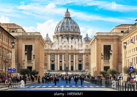 St. Peter's Basilica, Vatican City, Rome, Italy - Stock Photo