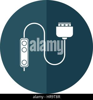 computer cable connection plug shadow - Stock Photo