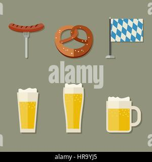 Beer icons - Stock Photo