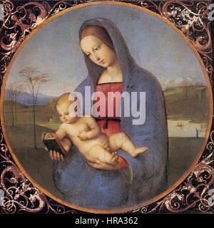 Raffaello Sanzio - Madonna with the Book (Conestabile Madonna) - WGA18629 - Stock Photo