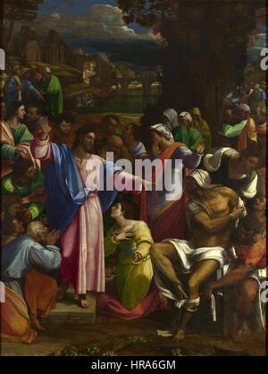 Sebastiano del Piombo, The Raising of Lazarus - Stock Photo