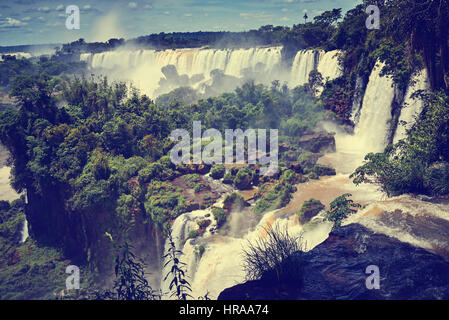 Iguazu Falls (aka Iguassu Falls or Cataratas del Iguazu), Misiones Province, Argentina - Stock Photo
