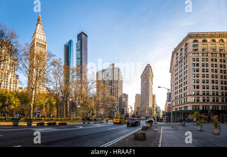 Buildings around Madison Square Park - New York City, USA - Stock Photo