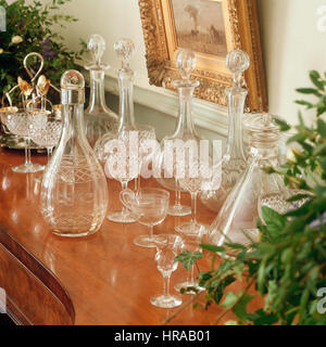 Collection of vintage glassware - Stock Photo