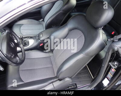 car interior luxury black seats with violet ambient light stock photo 95729170 alamy. Black Bedroom Furniture Sets. Home Design Ideas
