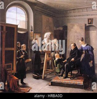 Carl Christian Vogel von Vogelstein - Ludwig Tieck Sitting to the Portrait Sculptor David d'Angers